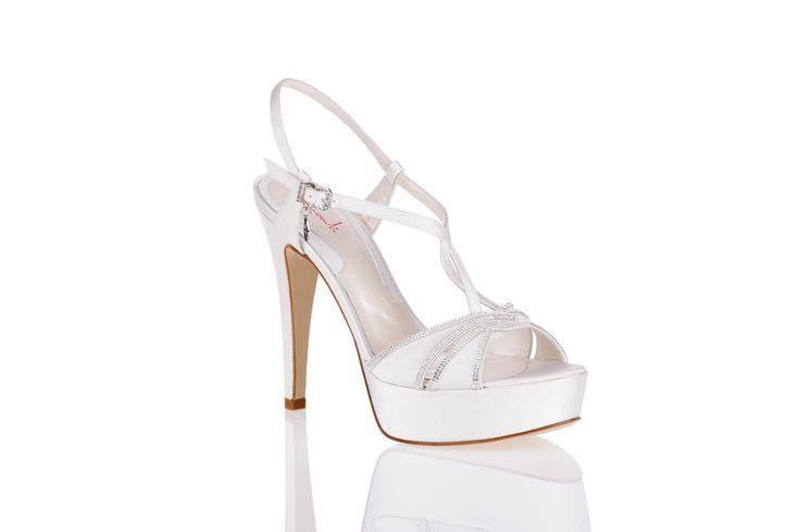 articolo 1773 - Ferracutishoes 2014  scarpe da sposa Ferracuti - sandalo sposa con Swarovski Elements
