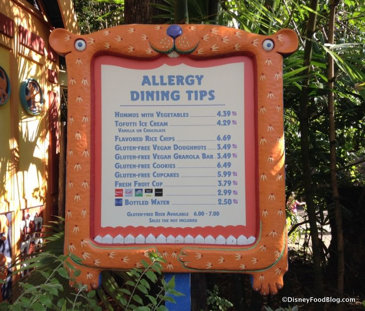 News!  Disney to Roll Out Allergy-Friendly Menus at More Than 100 Restaurants in Disney World and Disneyland. Allergy-friendly kiosk menu