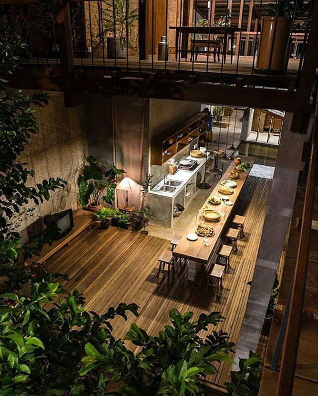 The House in Chau Doc is designed by NISHISHAWAARCHITECTS. Photo by Hiroyuki Oki. #diningroom #architecture #contemporary #kitchenisland #homesweethome #interior #homeinspiration #homeinspo #homestyle #homeinterior #homedesign #interiordecor #homedecor #i