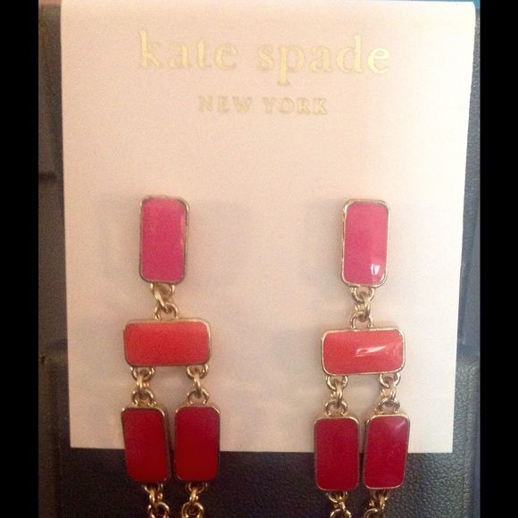 Kate Spade Earrings Sale Price Firm These are stunning Kate Spade earrings in shades of purple, red, orange and pink. They are brand new and come with the Kate Spade dust bag kate spade Jewelry Earrings