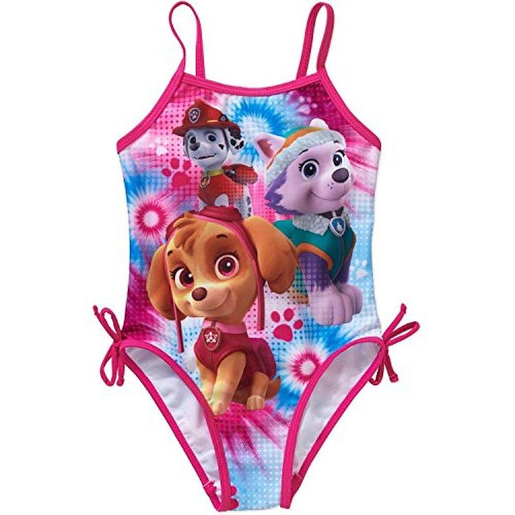 Nickelodeon Girls 2T-4T Paw Patrol One-Piece Swimsuit (4T) - Brought to you by Avarsha.com