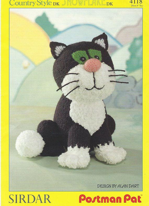 5a74c9948e23 Jess the Cat Knitting Pattern Postman Pats Cat Knitting | Knitting ...