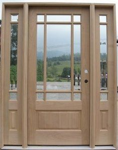 Craftsman Prairie-style Door (lose the sidelights) - pretty but impractical