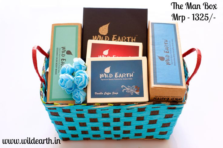 Gift Basket For Men from Wild Earth. Handmade Bath & Body Products. All natural, sulphate & paraben free.