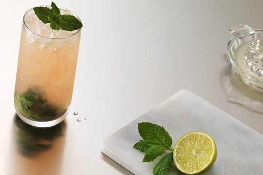 Grapefruit Mint Julep. Just made this without the grenadine, and it's amazing!