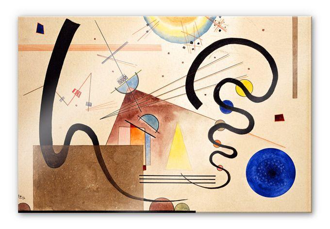 acrylglasbild kandinsky zwei bewegungen wall art de wassily abstrakt abstrakte kunst leinwand bilder malen