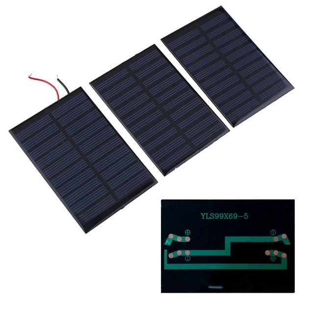 NEW 5V 0.8W 160mA Solar Panel Battery charger Module DIY Cell car boat