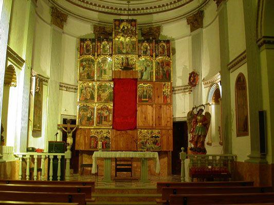 Retablo gótico de Iglesia de El Collado en Alpuente, Valencia, Spain