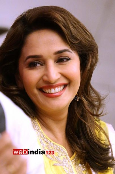 Bollywood actors Madhuri Dixit during the promotion of her latest movie Gulaab Gang, in New Delhi, India on March 4, 2014.