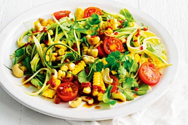 Raw zucchini noodles make a wonderful low-fat, low-cal and low-carb substitute for regular noodles, as well as providing vitamin C, potassium and folate