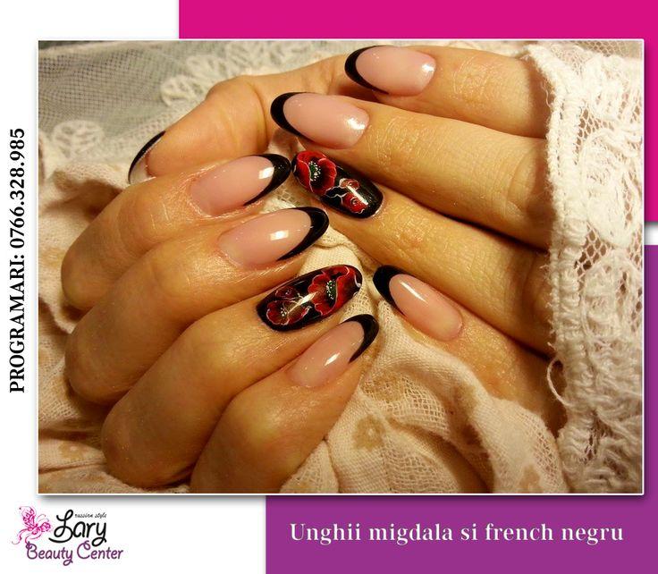 black french nails http://www.larybeautycenter.ro/servicii/unghii-cu-gel-sau-acryl