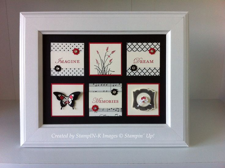 Basic black and very vanilla framed art by Kirsty Cooley - StampIN-K