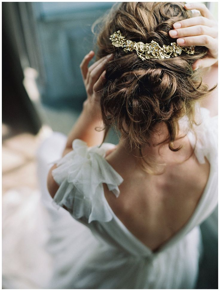 Gold headpiece by Enchanted Atelier by Liv Hart from The Dreamers SS17 Collection. Hair and makeup by Anna Breeding, model Kathleen McGonigle. Image by Laura Gordon.