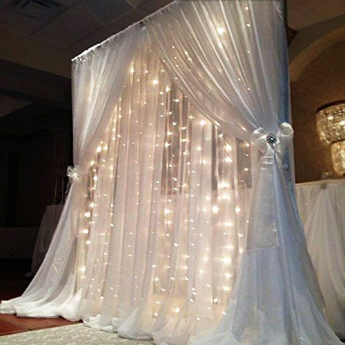 30 Stunning And Creative String Lights Wedding Decor Ideas: 25+ Best Ideas About Curtain Backdrop Wedding On Pinterest