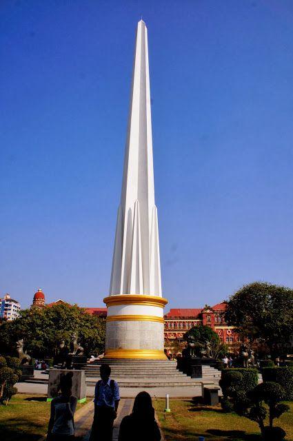 独立記念塔を見に行く。ヤンゴン旅行の観光アイデア。