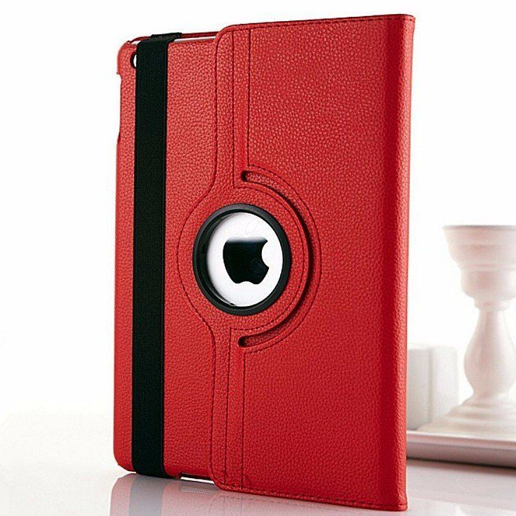 Rotary 360 Degree Rotating Litchi Grain Leather Case For iPad Air 2…