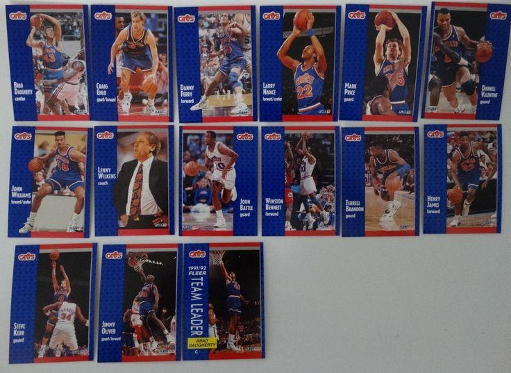 1991-92 Fleer Cleveland Cavaliers Team Set Of 15 Basketball Cards #ClevelandCavaliers
