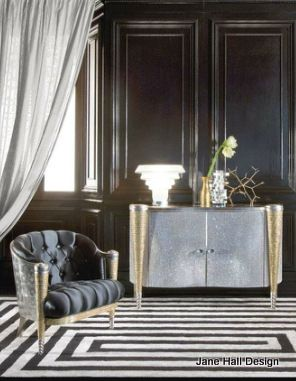 Art Deco living room is still a classic look for today's homeowner