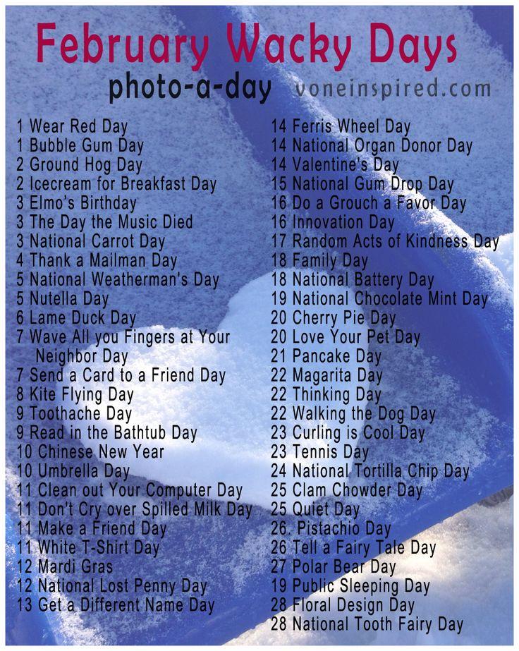 February Days List