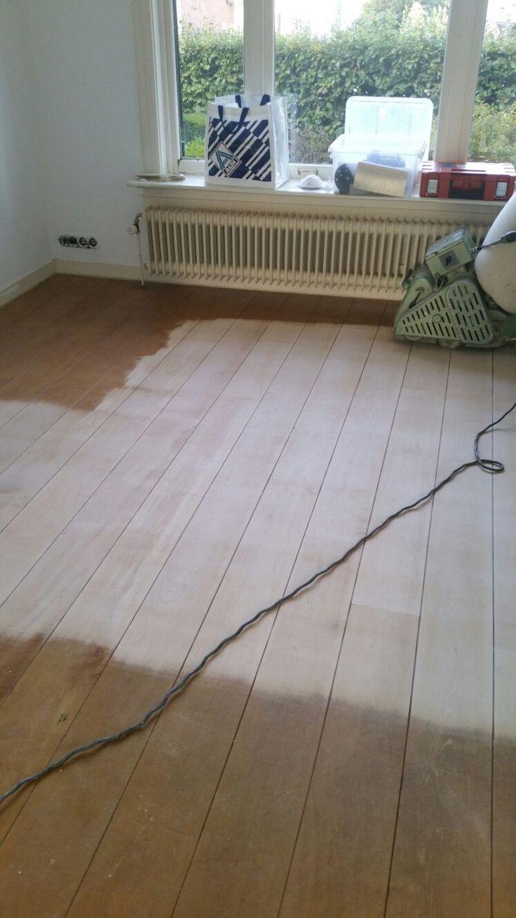 Houten vloer renovatie acacia