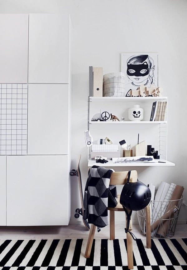 Kids work space, styling by Emma Fexeus  Lego huvud i vitt