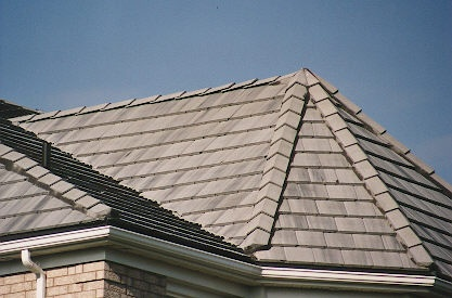 Flat concrete tile roof for Flat tile roof
