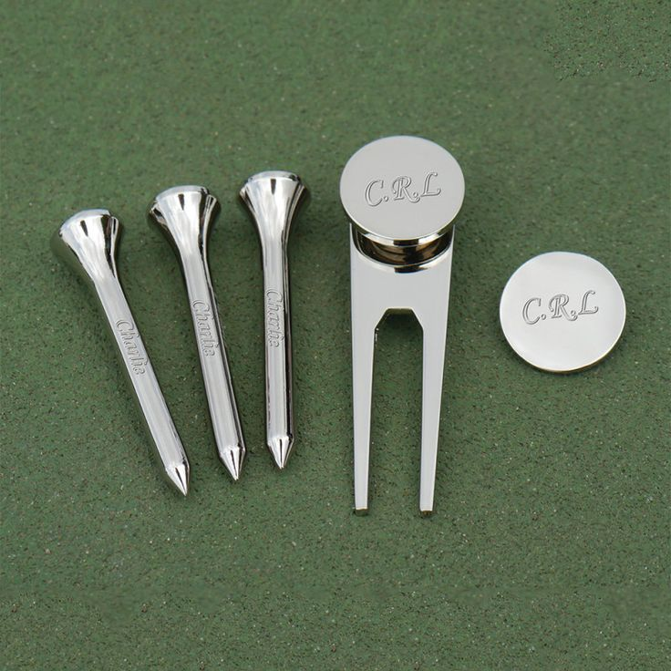 Personalised Engraved Set of 5 Golf Accessories | hardtofind.