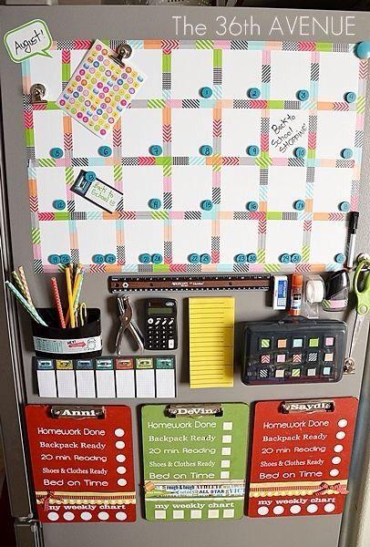 DIY organisation wall