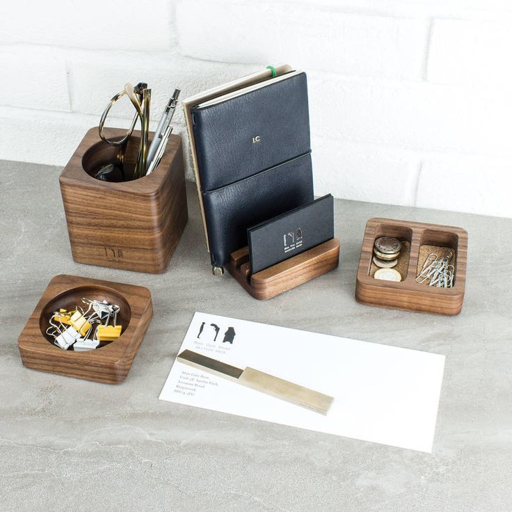 Solid Wood Desk Tidy Modular Set