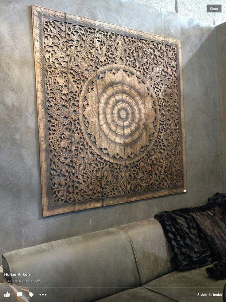 Wand paneel in naturel