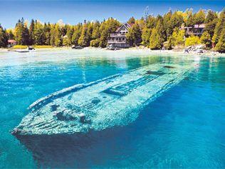 Shipwreck, Bruce Peninsula, Canada