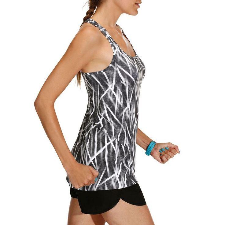 FITNESS Fitness Vêtements - Débardeur long ENERGY fitness DOMYOS - Les hauts