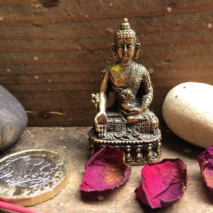 Fairtrade Nepalese Brass Buddha Statuette - front