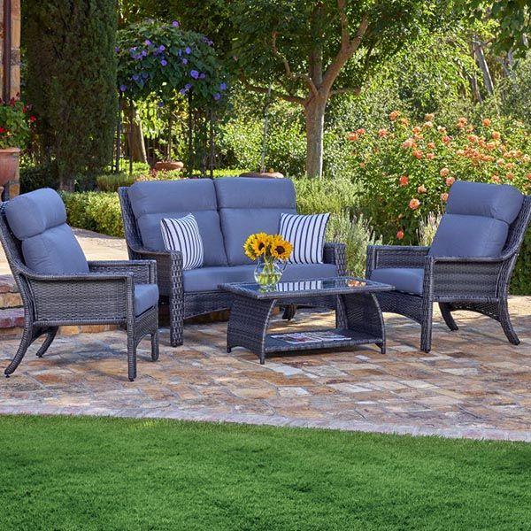 The Baja Deep Seating Group Wicker Patio Set Patio Patio Furniture Covers