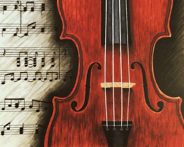 Violin Drawing | My Drawings & Sketches | Pinterest ...