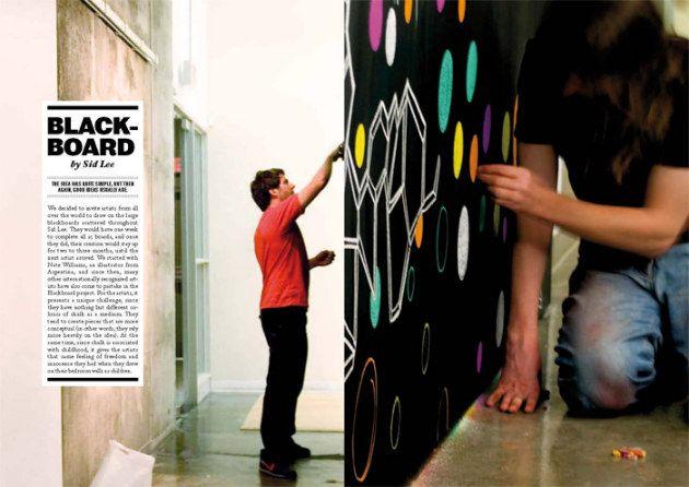 Des artistes internationaux s'expriment sur BlackBoard chez Sidlee on http://www.marevueweb.com: Graphic Design, Artists, Promote Ideas, Blackboard Chez, Sur Blackboard, Internationaux S Expriment