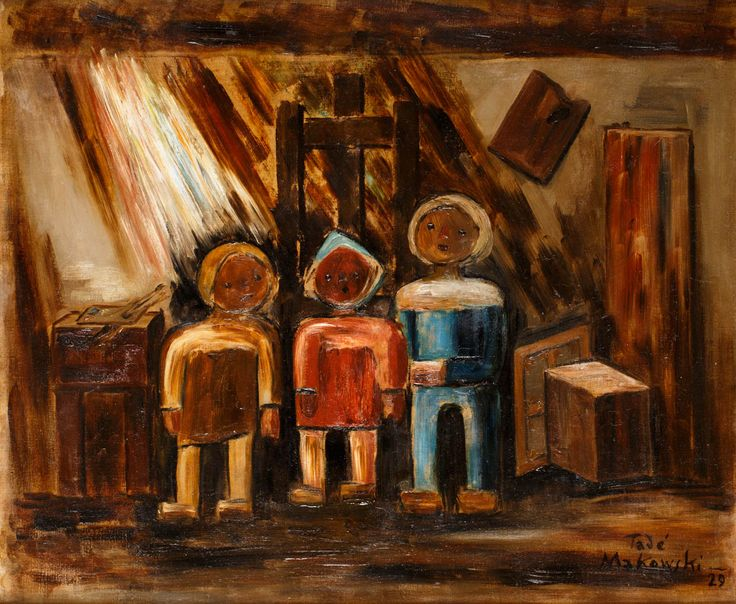TADEUSZ MAKOWSKI (1882 - 1932)    olej, płótno / 54,5 x 65,5 cm