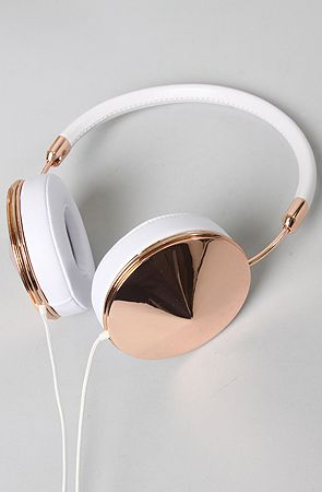 Frends Headphones Taylor in Rose Gold & White : Karmaloop.com - Global Concrete Culture