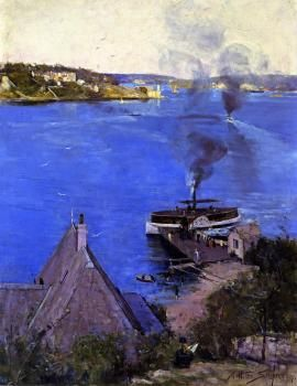 From McMahon's Point - Fare One Penny - Arthur Streeton