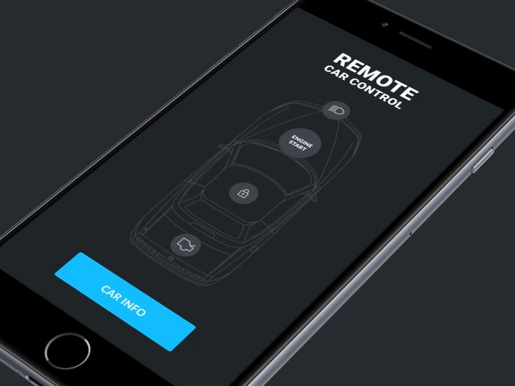 iOS auto app concept and animations