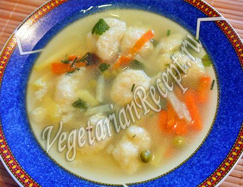 суп с клецками сырными