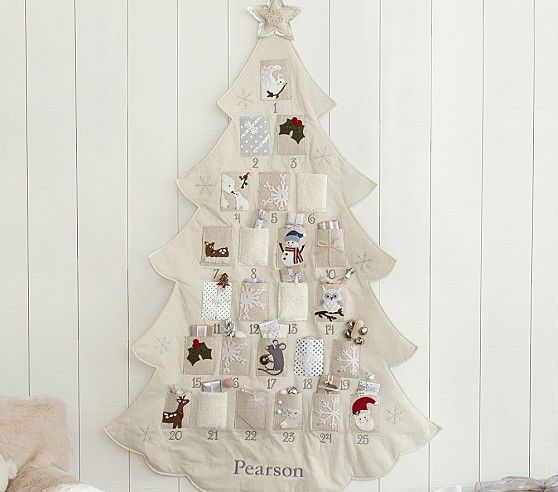 Telluride Natural Advent Calendar | Pottery Barn Kids...I'd like this even better as a large rectangular wall hanging, but I love the colors and design.