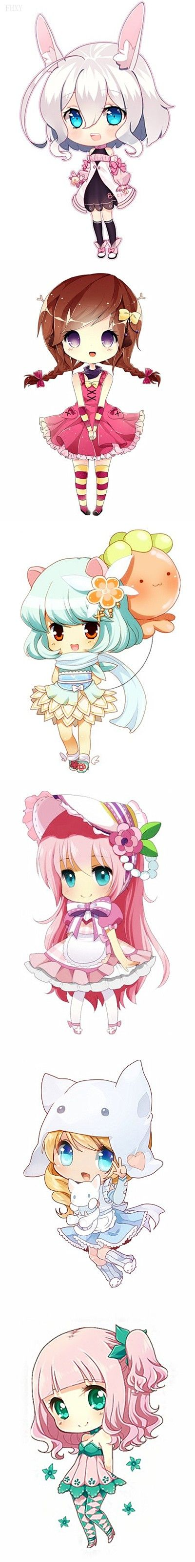 Chibis ♡ i find this rather cute