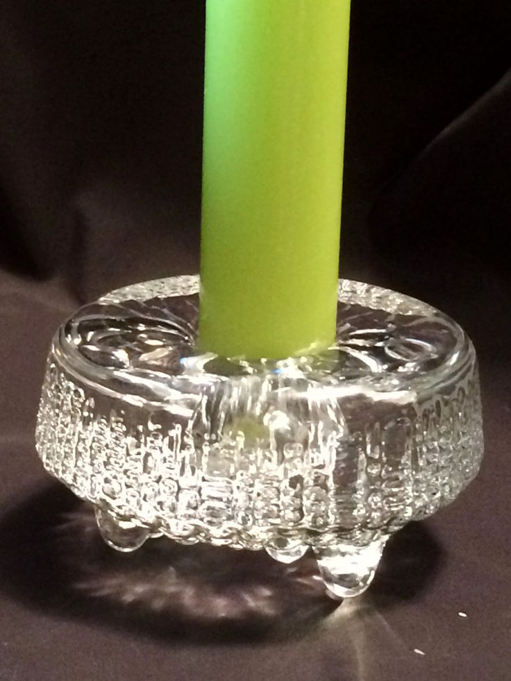Ultima Thule Candle Holder / Tapio Wirkkala design / Sculpted glass by ModernaireMCMStudios on Etsy