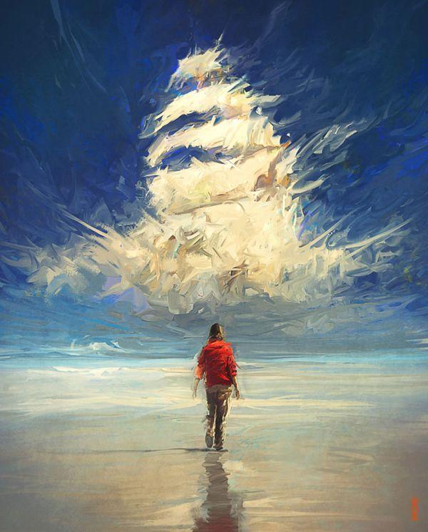 Enchanted Sky, digital art by Rhads - ego-alterego.com