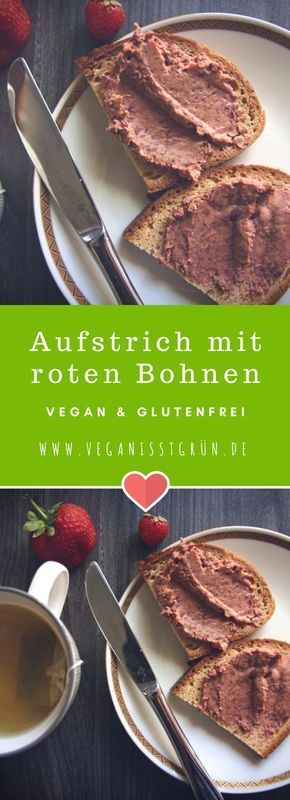 Aufstrich mit roten Bohnen. Ein schneller Aufstrich aus Kidneybohnen, der dazu auch noch vegan und glutenfrei ist.