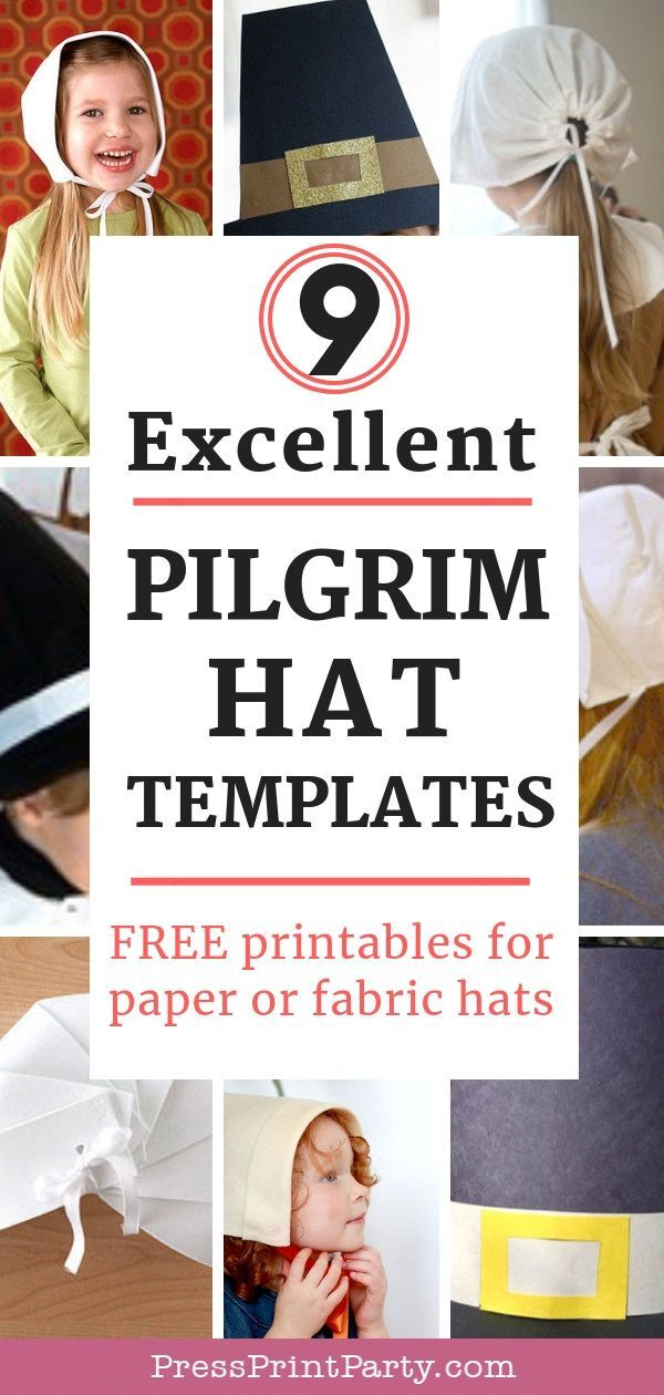 thanksgiving craft pilgram hat templates