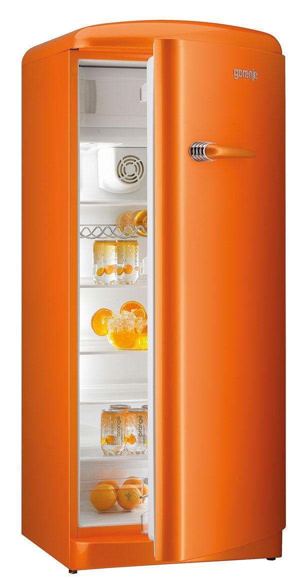 Orange refrigerator - http://media-cache-ak0.pinimg.com/originals/f1/0c/6e/f10c6e70ed30900fd16cbbcd2e7024b5.jpg
