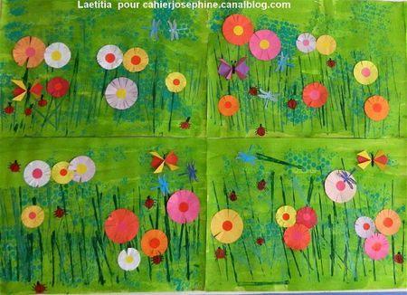 arts plastiques prairie fleurie