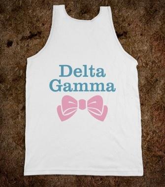 Delta Gamma Frat Tanks - Delta Gamma Bows Frat Tanks